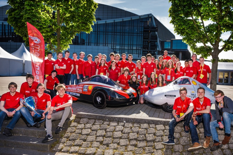 Green Team Twente Young | Shell Eco Marathon groepsfoto #1